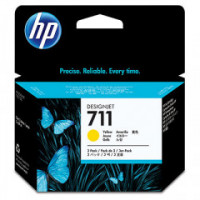 CZ136A     HP  711 29-ml   YELLOW  Ink Cartridge 3-pack - Product Image