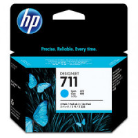 CZ134A     HP  711 29-ML Cyan Ink Cartridge 3-pack - Product Image