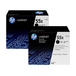 CE255XD   DUEL PACK BLACK TONER High Yield12.5k - Product Image