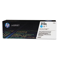 CF381A ..HP 312A  ...   HP  Cyan Toner with Drum Cartridge   2.7k - Product Image