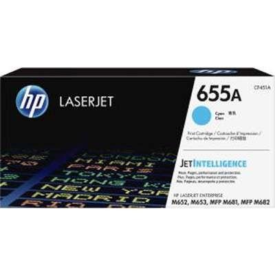 CF451A, HP 655A, CYAN Toner .....10,500 k - Product Image