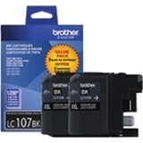 LC1072PKS       Twin Pack    Brother Black  Xtra Hi Yield  1200 Pages each - Product Image