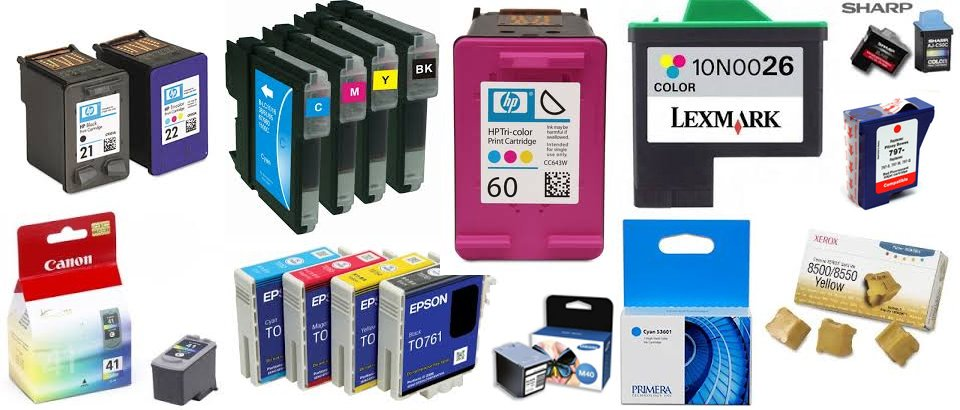 toners, ink cartridges